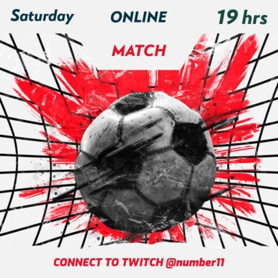 Instagram Post Creator for a Virtual Soccer Match 2554a