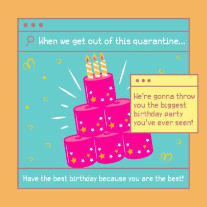 Instagram Post Generator Featuring a Toilet Paper B-Day Cake 2549f