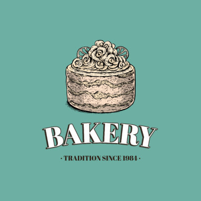 Bakery Logo Template Featuring Hand-Drawn Dessert Graphics 1747-el1