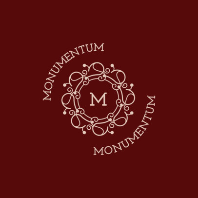 Monogram Logo Maker Featuring a Letter with an Framing Illustration 3316