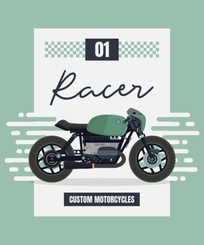 T-Shirt Design Creator Featuring Graphics of Vintage Motorcycles 1716-el1