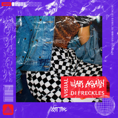 Mixtape Cover Maker Featuring Grunge Textures 2585h