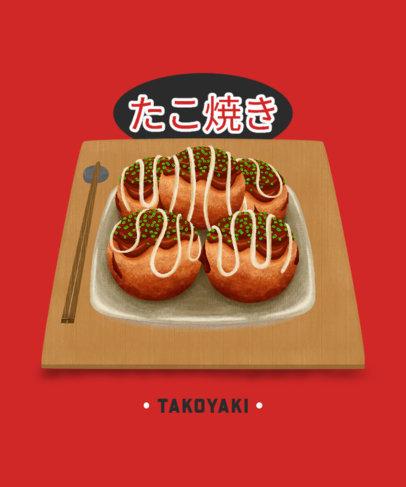 T-Shirt Design Maker with a Vivid Illustration of Asian Food 1681a-el1