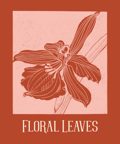 T-Shirt Design Generator Featuring Floral Leaves 1657b-el1