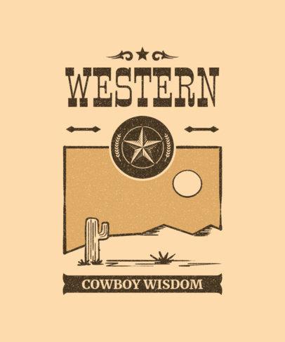 T-Shirt Design Maker Featuring Wild West Graphics 1709-el1