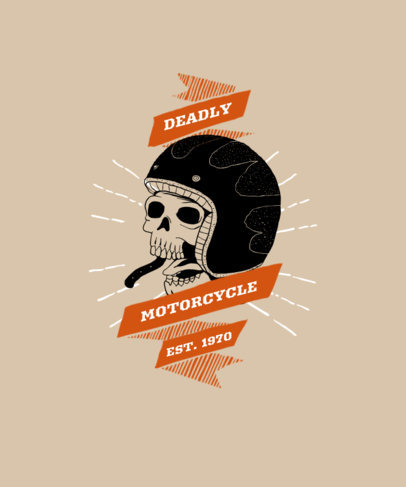 T-Shirt Design Maker for Motorbike Aficionados 1718-el1