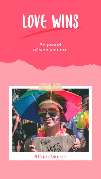 Instagram Story Generator for Pride Month with a Quote and a Picture 931d-2594