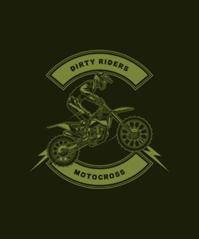 T-Shirt Design Maker for a Dirty Riders Club 1713c-el1