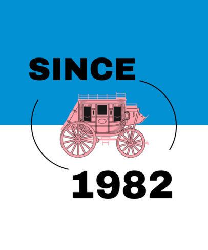 Western T-Shirt Design Creator Featuring an Old Carriage Graphic 1705c-el1