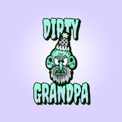 Gaming Logo Creator Featuring a Dirty Grandpa Graphic 3329d