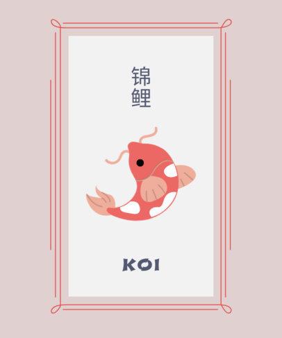 T-Shirt Design Creator Featuring a Koi Fish Graphic 1687a-el1