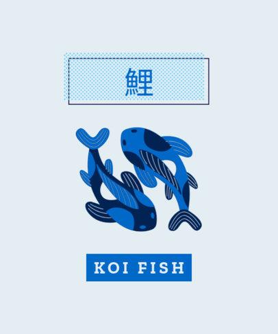 T-Shirt Design Generator Featuring Two Koi Fishes 1683b-el1