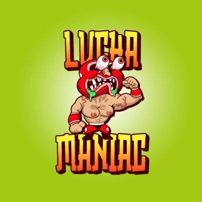 Logo Maker of an Irreverent Wrestler Cartoon 3329e