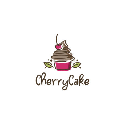 Bakery Logo Generator Featuring a Cherry Cupcake Graphic 1860c-el1