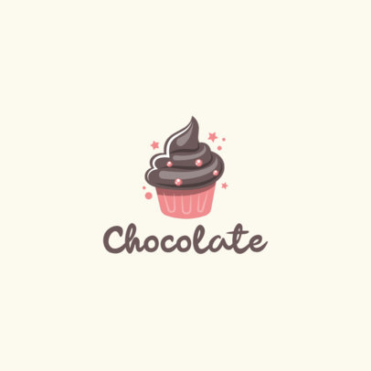Logo Maker for a Bakery Featuring a Chocolate Cupcake 1860f-el1