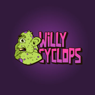 Gaming Logo Creator Featuring a Gross Cartoon 3329i