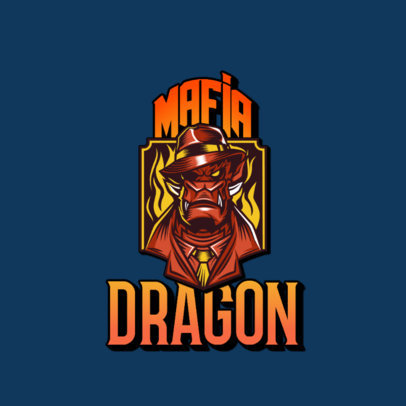 Gaming Logo Creator with a Gangster Dragon Character 3323a