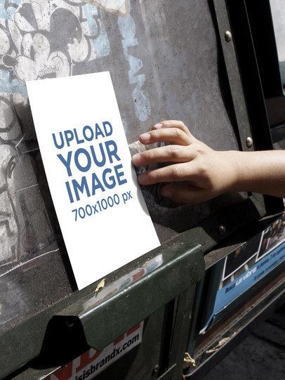 Mockup of a Poster in an Urban Scenario with Graffiti 4519-el1