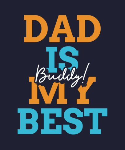 Father's Day T-Shirt Design Template Featuring a Cool Typeface 2114k-2614