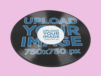 Mockup of a Vinyl Featuring a Customizable Background 37201-r-el2