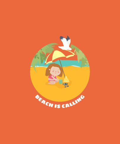 T-Shirt Design Creator with a Girl at the Beach 1877b-el1