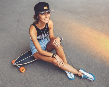 Mockup of a Young Woman Wearing Sneakers 36540-r-el2