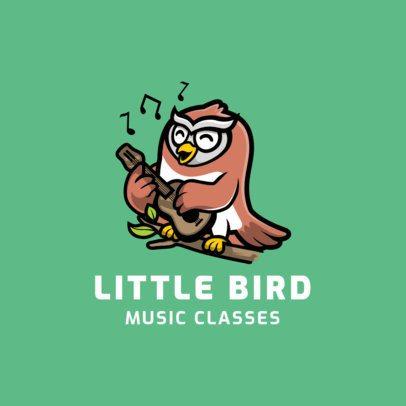 Logo Maker for a Kids' Music Academy Featuring a Singing Bird 1773d-el1