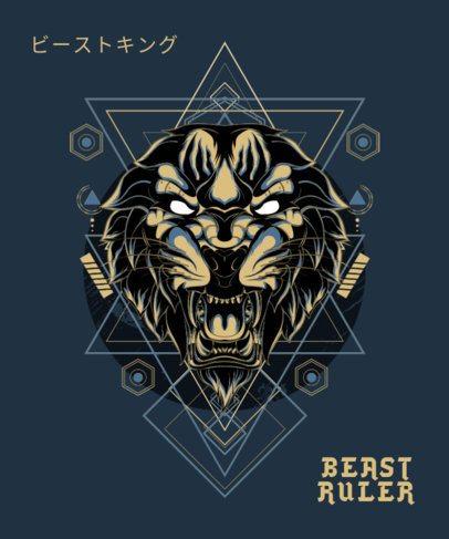Trendy T-Shirt Design Generator Featuring an Aggressive Beast Illustration 1792k-el1