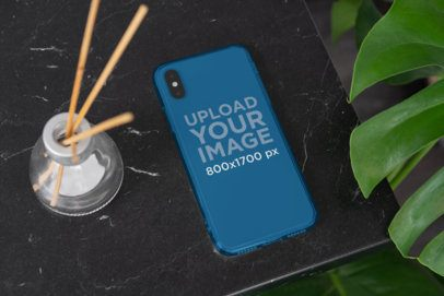 Clear Phone Case Mockup Featuring a Fancy Setting 4633-el1