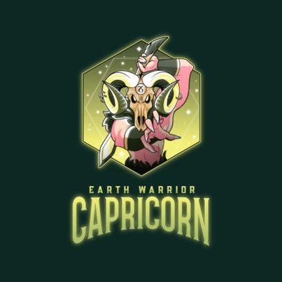 Logo Maker Featuring a Capricorn Warrior Character 3348g
