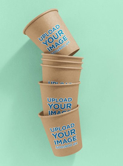 Mockup Featuring Multiple Coffee Cups 36870-r-el2