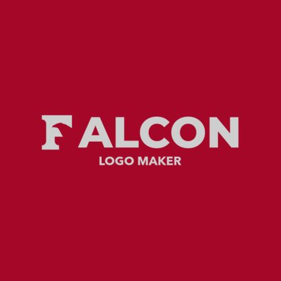 Logo Maker with a Falcon Beak Included in the First Letter 3340d