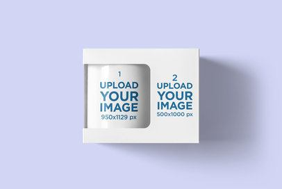 Mockup of an 11 oz Coffee Mug Inside a Box 4489-el1