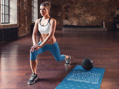 Yoga Mat Mockup of a Woman Training Her Legs  37225-r-el2