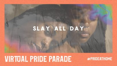 YouTube Thumbnail Maker for a Virtual Pride Parade Featuring a Film Burn Effect 2648e