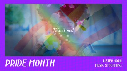 YouTube Thumbnail Template for Pride Month Featuring Lomo Photography Effects 2648g
