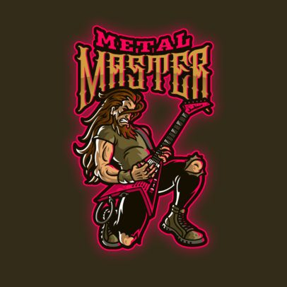 Logo Maker Featuring Musician Character Illustrations 3378