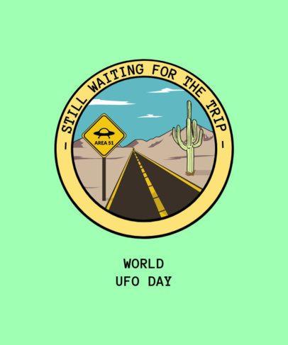 Alien T-Shirt Design Creator for World UFO Day 1717j-2665