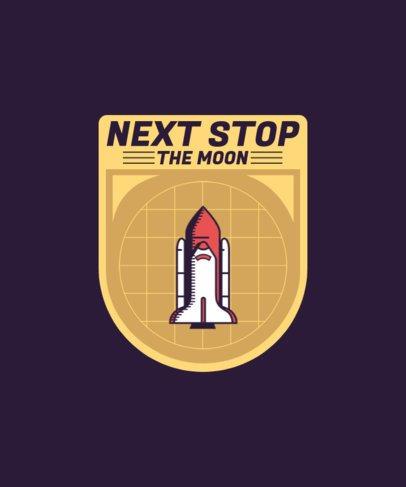 T-Shirt Design Generator with a Graphic of a Rocket 1939g