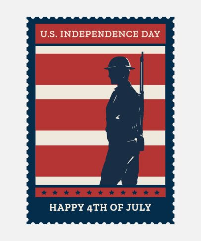 T-Shirt Design Maker for a 4th of July Remembrance with a Soldier Graphic 1813i 2664