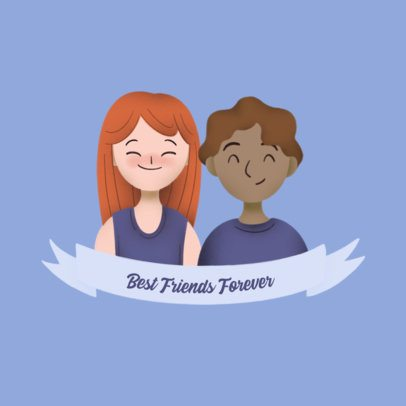 Avatar Logo Creator with Best Friend Customizable Characters 3372c