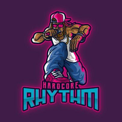 Musician Logo Creator Featuring a Cool Rapper 3378d