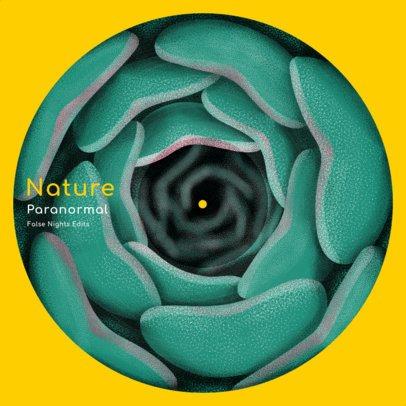 Vinyl Record Design Creator Featuring Rose Petals with Optical-Illusion 2625c