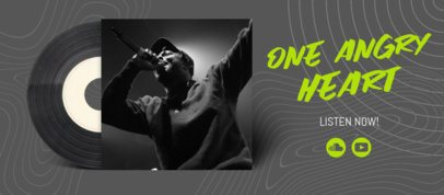 Facebook Cover Design Template for a Musician 2675f