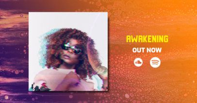 Facebook Post Maker Featuring a Gradient Color Background for New Music Promo 2677i
