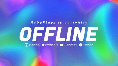 Colorful Twitch Offline Banner Maker With an Abstract Background 2670f
