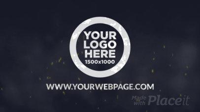 Logo Reveal Intro Maker Featuring Burning Metal Graphics 1437-el1