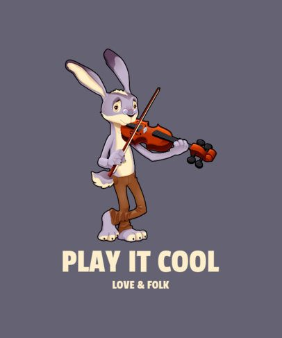 T-Shirt Design Creator with a Rabbit Playing a Violin 1965e-el1