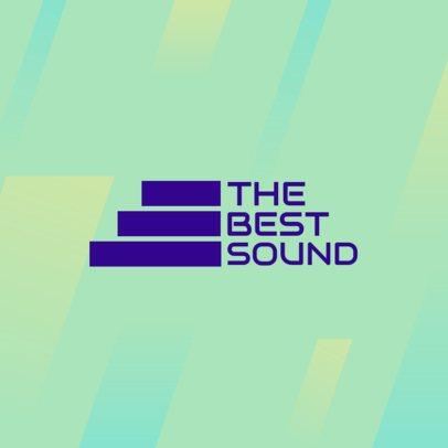 Sound Producer Logo Maker with a Modern Typography 3392e