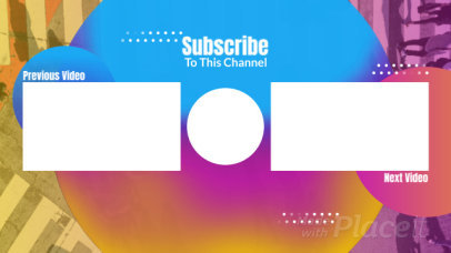 YouTube End Screen Video Maker with Gradient Graphics 426-el1